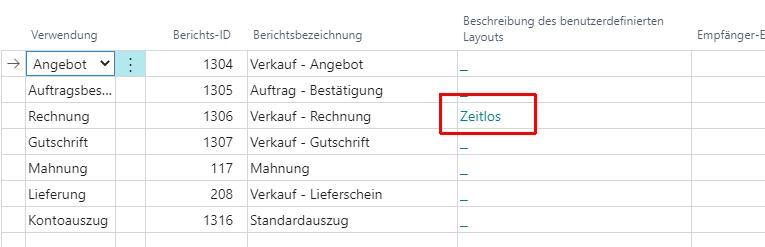 Debitor Aktionsleiste Dokumentlayouts